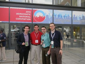 WRHU at the DNC: Gary Duff, Julian Coltre, Dennis Foley, Bill Goodenough