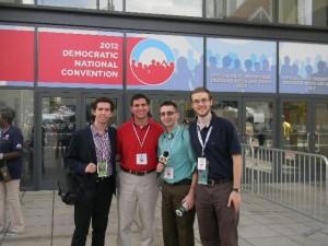 WRHU at the DNC: Gary Duff, Julian Coltre, Dennis Foley, Bill Goodenough