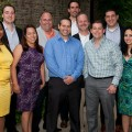 The first cohort of Hofstra's online MBA program celebrate their graduation
