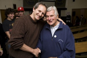 Music Professor Ken Lampl with Sid Bernstein.