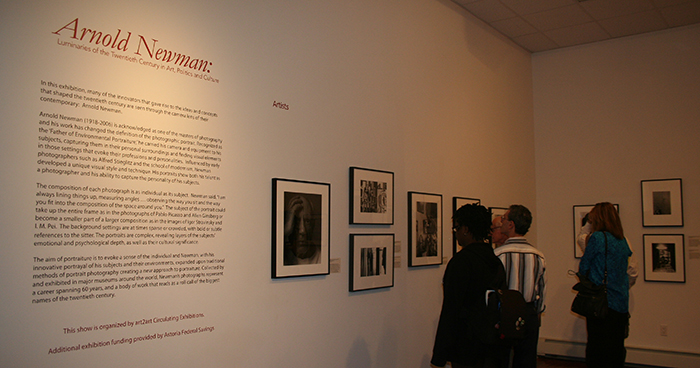 Arnold Newman exhibit opening