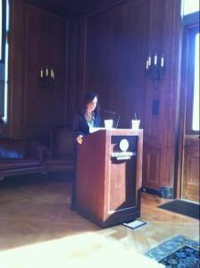 Lisa Merrill delivering her keynote, Oct. 13th.
