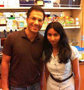 Beena Biju with her UCLA mentor, Dr. Siavash Kurdistani.