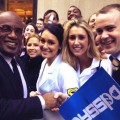 PA students with Al Roker