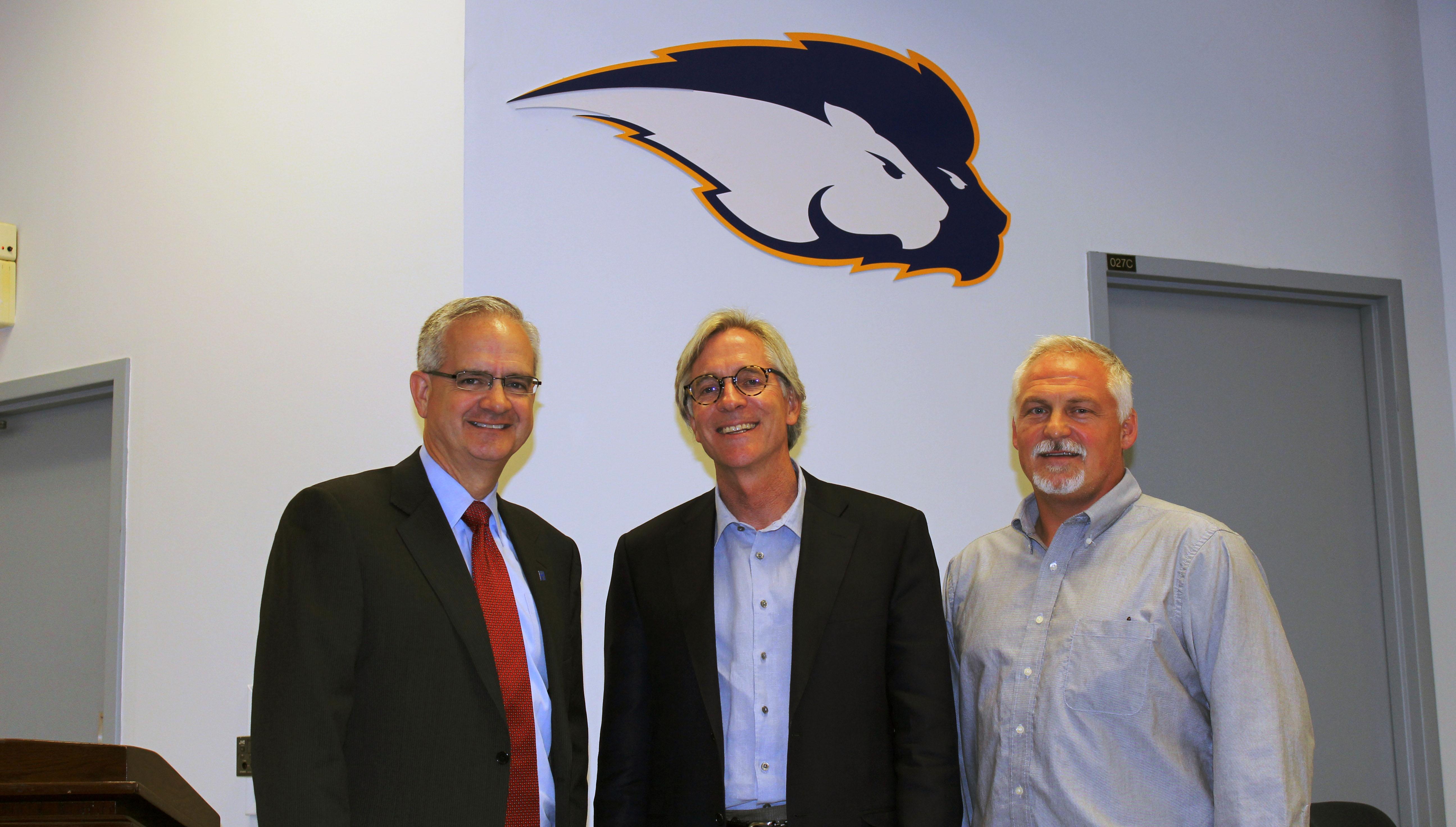 Dr. Brian Hainline Visits Hofstra