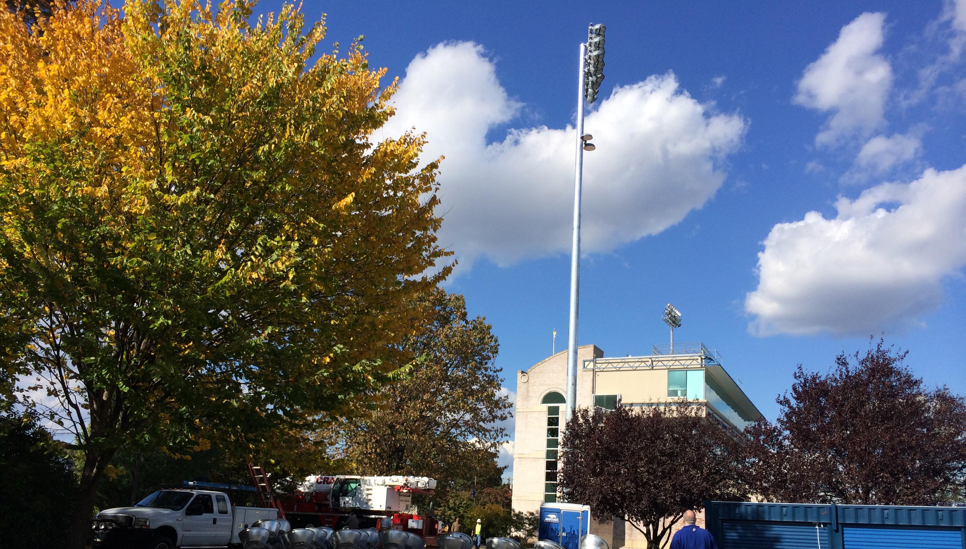 New Lights Installed At James M. Shuart Stadium