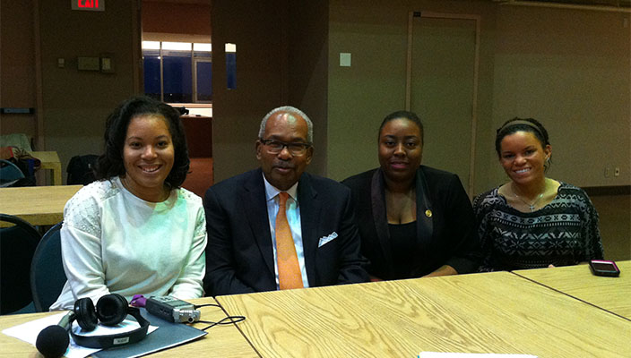 Ernest Green met with students from Hofstra media.