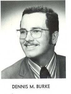 Dennis Burke's 1971 Hofstra yearbook photo