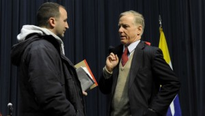 Howard Dean and student