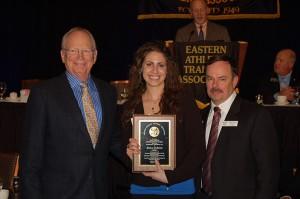Marissa LoMonaco with EATA President John Davis (rIght)
