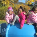 little girls on playground
