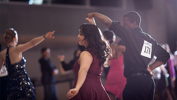Ria Dela Rosa and Desmond at the Big Apple Dancesport. photo by Joseph Pasaoa