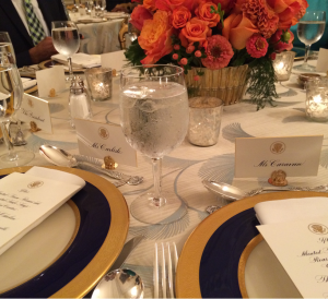 Bassir Caravan '15 sat just two seats away from the President at a recent White House dinner.