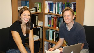 Amanda Stashin and Dr. Bisceglia