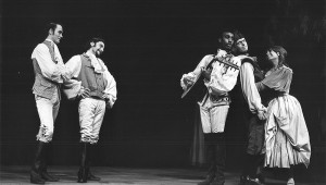 "Joe Morton playing Amiens in ""As You Like It"" in the 1968 Shakespeare Festival."