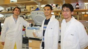 (L-r) Nickolas Boroda, Pierre Llanos and Andrew Wong