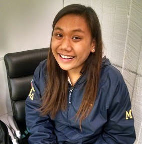 """""""For having the opportunity to study abroad here."""" – Gia Palomo, sophomore public relations major"""