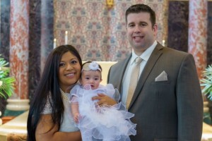 Michael Matthews with his wife, Leslie, and daughter, Gabriella