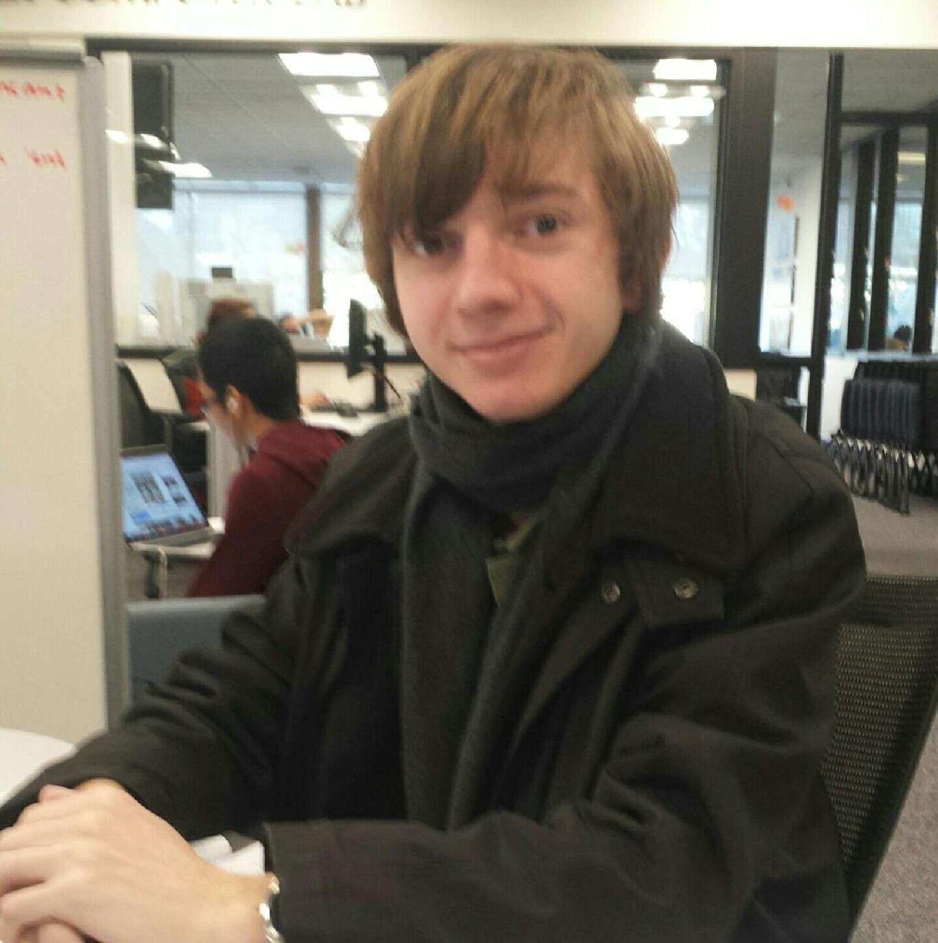 """""""For having so many people I can be totally honest with."""" – Peter Murphy, sophomore physics major"""