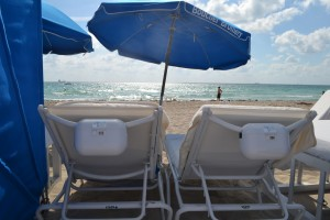 AquaVault attaches to most beach chairs to stow your valuables.