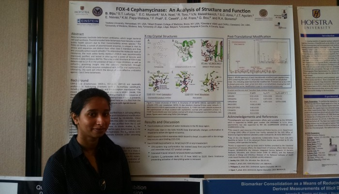 """I worked with the Chemistry Department to research antibiotic resistance specifically to FOX-4."" – Beena Biju"