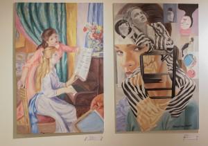 Art work by students Hannah Hahn and Brandi Kinard