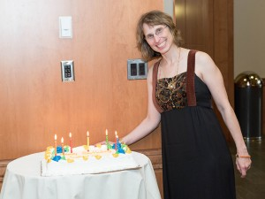 The dinner also squeezed in a birthday cake for Dr. Sabrina Sobel