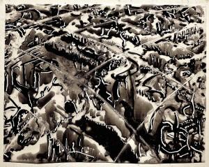 Doug Hilson; Murky Depths, 2007; Ink on Mylar; 15 x 20 in. Courtesy of the artist Photo: Dana Duke