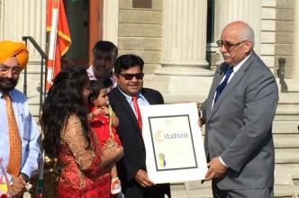 Akshat Jain receives Nassau County citation rs