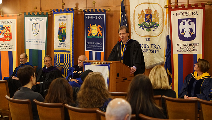 12/08/2015, Hempstead. Wachtel Convocation, honoree Gregory M. Maney. Photos: Phil Marino