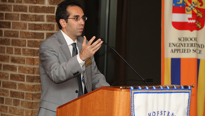 Sina Rabbany at the SEAS alumni reception, fall 2015.