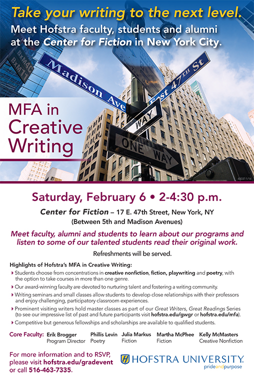 mfa creative writing nonfiction programs Goucher's mfa in nonfiction program is ideally suited to a writer i wanted a degree that would not only help advance my writing skills apply to goucher college.