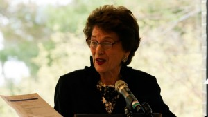 Judge Judith Kaye speaking at the 2013 New York State Leadership Summit on School-Justice Partnerships, which she organized with Hofstra Law faculty and students.