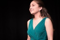 Christina Cinnamo at a Hofstra recital.