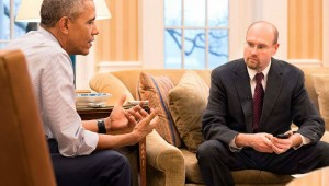 POLITICO Chief Political Correspondent Glenn Thrush interviewing President Barack Obama in the Oval Office