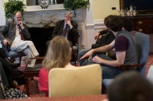 4/6/11, Hofstra University, Hempstead. Great Writers Great Readings; Christopher Durang at Guthart Cultural Center Theater and Hofstra Hall Parlor Room. Photo: Phil Marino