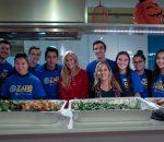 Zarb students volunteer at Ronald McDonald House with Professor Ciavarello