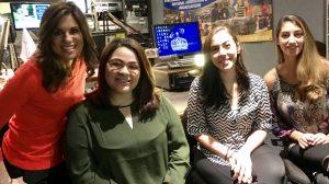 WNBC's Natalie Pasquarella with WRHU student reporters