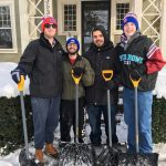 Snow Angels community service program, snow clean up, Phi Delta Theta fraternity members