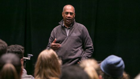 Joe Morton taught a master class while he was at Hofstra on March 6, 2017.