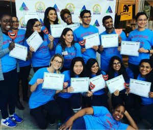 Some of Hofstra's student volunteers at the annual event.