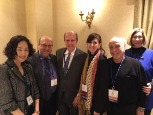 Hofstra professors at the ECA conference.