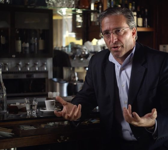 "Professor Stanislao Pugliese in the documentary ""Frank Serpico"""