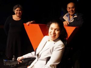 Cristina Cortez and her parents at TEDxEverett