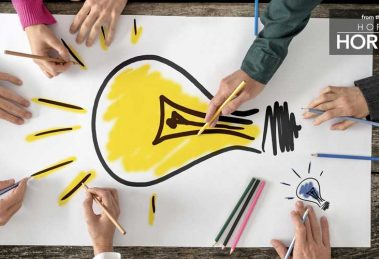 Drawing a Lightbulb - from the pages of Hofstra Horizons