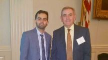 Professor David Rooney and engineering student Ahsan Sandhu