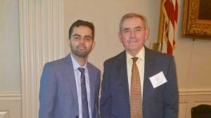Professor David Rooney and engineering student Ahsan Sandhu
