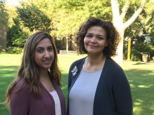 Laraib Humayun'17 and Dr. Martine Hackett