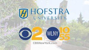 Hofstra & CBS2/WLNY 10/55 logos