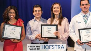 Two health care-related businesses and a service that provides law students with audio recordings of reading assignments took top honors at the 2018 Hofstra-Digital Remedy Venture Challenge.